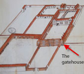 Original plan of Shurland Hall from the 1500s