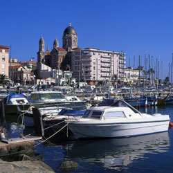 Picture of St Raphael harbour on France's Cote D'Azur